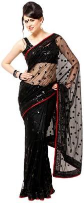 Crishna Enterprises Solid Fashion Net Sari