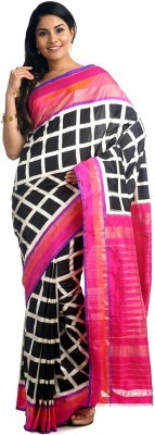 BlackBeauty Woven Pochampally Handloom Pure Silk Saree(Multicolor) at flipkart