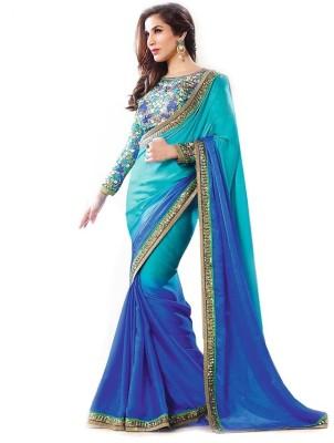 Manshvi Fashion Plain Fashion Georgette Sari