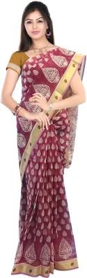 SRK GROUPS Printed Gadwal Cotton Sari