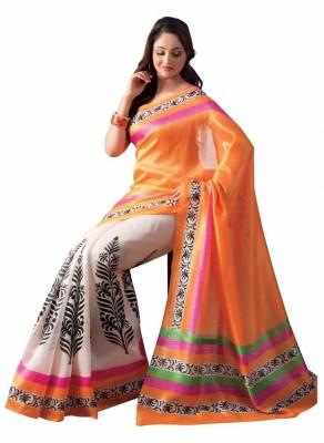 The Designer House Printed Mysore Handloom Art Silk Sari