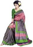 Saran Checkered Bollywood Art Silk Saree...