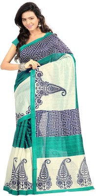 F3 Apparels Printed Bhagalpuri Art Silk Sari