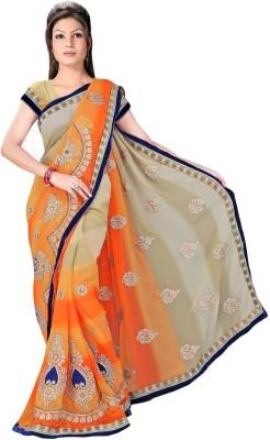 Ranas Fashion74 Self Design Fashion Chiffon Sari