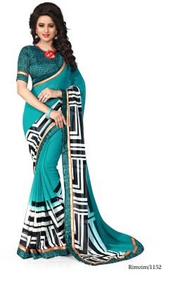 Indianbeauty Self Design, Printed Fashion Georgette Sari