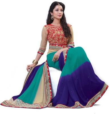 Sundari Fashion Embriodered Fashion Art Silk Sari