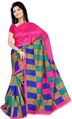 KSM Digital Prints Bhagalpuri Polyester Sari