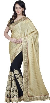 Hitansh Fashion Embriodered Fashion Chiffon, Jacquard Sari
