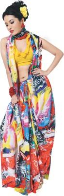 GardenVareli Printed Fashion Silk Sari