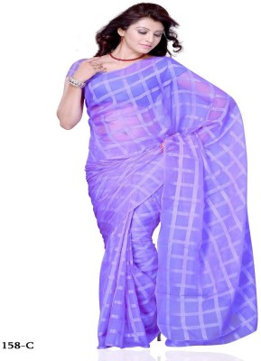 Swikriti Creations Plain Daily Wear Cotton Sari