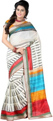 Elijaah Embellished Bhagalpuri Handloom Art Silk Sari