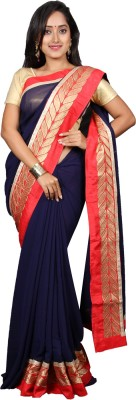 vinaa sarees Plain Fashion Synthetic Chiffon Sari