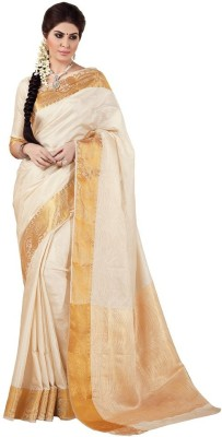Radhika Creation Self Design Kanjivaram Tussar Silk Sari