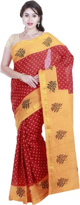 BrindavanSilks Printed Daily Wear Cotton Sari