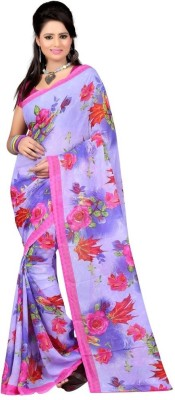 Carah Printed Daily Wear Georgette Sari