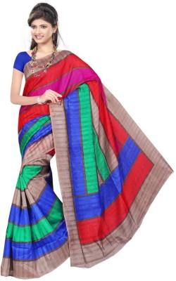 Being Feminine Striped Bhagalpuri Handloom Chanderi Sari