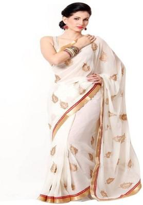 HIRA CREATION Self Design Fashion Chiffon Sari