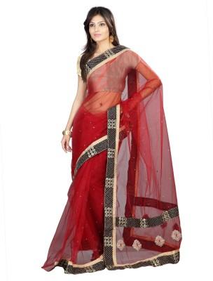 DK Fashion Solid Bollywood Net Sari