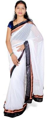 Fly Angels Self Design Fashion Brasso Sari