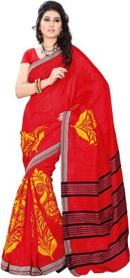 Online Adda Printed Fashion Art Silk Sari