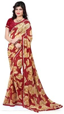 Fancy Sarees Printed Bollywood Georgette Sari