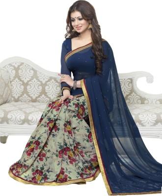 Radhecreation Printed Bollywood Chiffon Sari