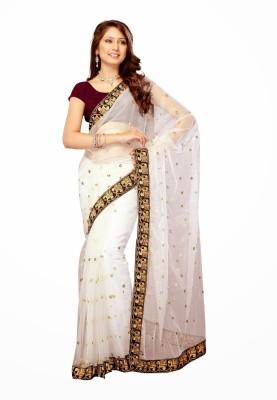 Rangsthali Self Design Fashion Net Sari