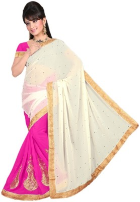 Ruchifashion Self Design Fashion Handloom Georgette Sari