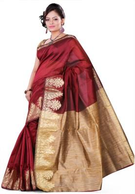 Vastrakala Solid Fashion Cotton, Silk Sari