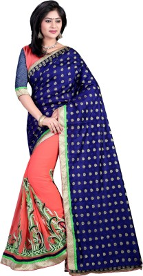 Nimi Fashion Self Design, Embriodered, Solid, Woven Bollywood Handloom Georgette, Jacquard Sari