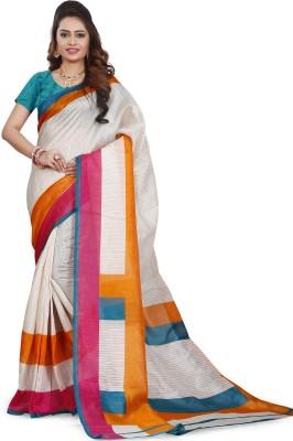 Jonikon Self Design Fashion Raw Silk Sari