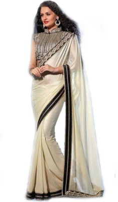 First Lady Embriodered Fashion Handloom Shimmer Fabric Sari