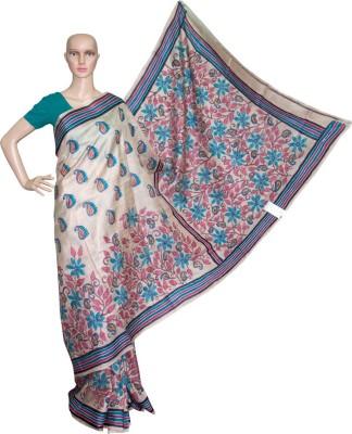 Prateeti Embriodered Kantha Handloom Tussar Silk Sari