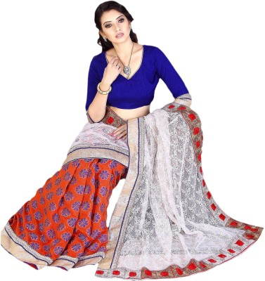 Prachi Silk Mills Self Design Fashion Tissue, Net, Chanderi Sari