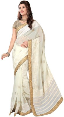 Khusi Fashion Embriodered Bollywood Poly Silk Sari