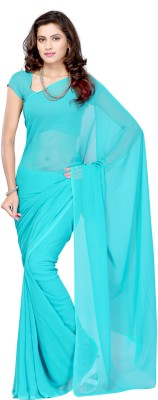 Sonika Solid Daily Wear Georgette Sari