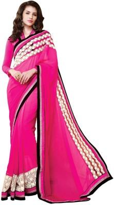 Desi Look Solid Bollywood Georgette Sari