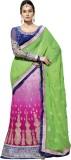 Zoom Fabrics Self Design Lehenga Saree G...