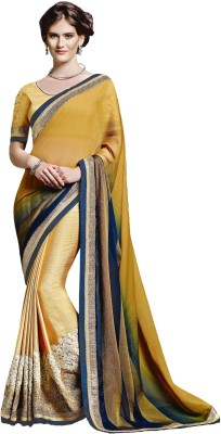 Jinaam Dress Embriodered Fashion Chiffon Sari