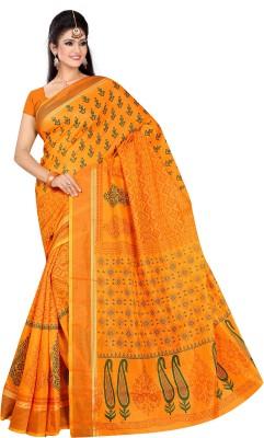 Srujan Printed Chettinadu Cotton Sari