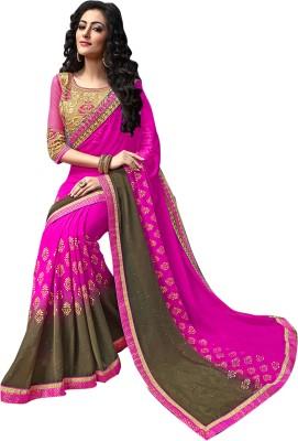 Jhankar Collection Graphic Print Bollywood Chiffon Sari