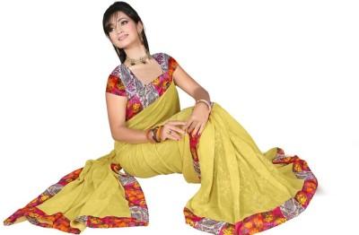 AJS Chevron, Floral Print, Printed Fashion Georgette Sari