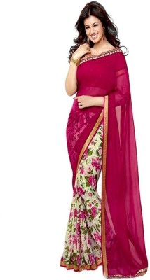 Lovit Self Design Bollywood Georgette, Chiffon Sari