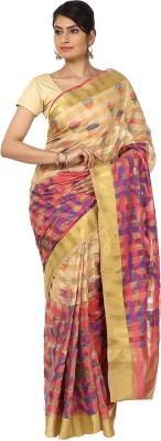 Sevensquare Checkered Banarasi Organza Sari