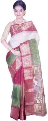 Jhumya Printed Tant Handloom Silk Cotton Blend Sari