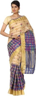 Seven Square Checkered Banarasi Organza Sari
