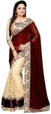 Shopcartz Embriodered Bollywood Net Sari