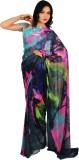 Rama Printed Fashion Georgette Saree (Bl...