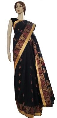 Aaranya Woven, Self Design Fashion Silk Cotton Blend, Jacquard Sari