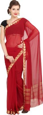 Aryahi Solid Daily Wear Chiffon Sari